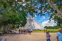 Foto de pirámide de Chichán Itzá en Yucatán