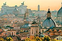 Foto panorámica de Roma
