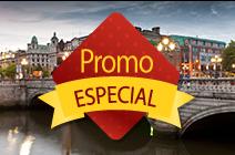 Foto panorámica de Dublín con puente y ciudad