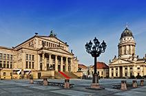 Foto panorámica de museo de Berlín