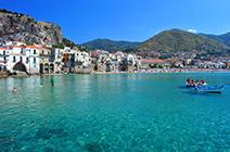 Foto panorámica de la costa Siciliana