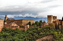 Foto panorámica de La Alhambra en Granada