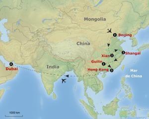 Mapa itinerario